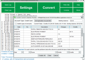 CSV2OFX Convert screenshot