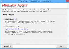 Zimbra Email Migration Tools screenshot