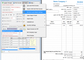 Gujarati Excel Invoice Software screenshot
