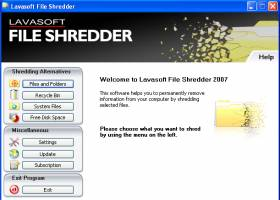 Lavasoft File Shredder 2009 screenshot