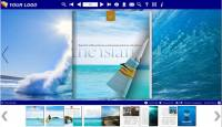 Flash Flip Book Templates of Sea Theme screenshot