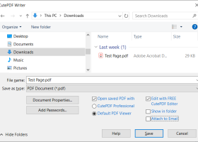 CutePDF Writer - Windows 8 Downloads