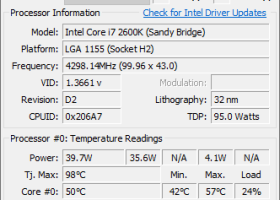 Core Temp 32bit screenshot
