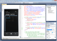 Windows Phone SDK screenshot