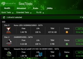 SeaTools for Windows screenshot
