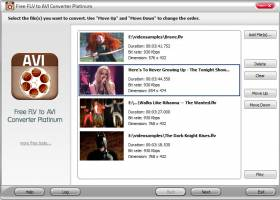 Free FLV to AVI Converter Platinum screenshot