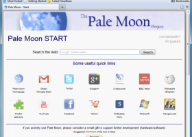 Pale Moon Portable screenshot