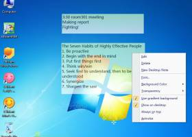 Portable Efficient Sticky Notes screenshot