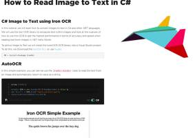 How to Read Text from an Image in C# screenshot