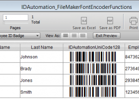 FileMaker Pro Barcode Custom Functions screenshot