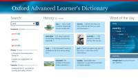 Oxford Advanced Learner's Dictionary for Win8 UI screenshot