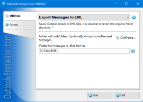 Export Messages to EML for Outlook screenshot