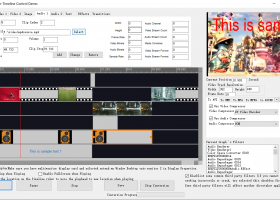 Movie Maker Timeline SDK screenshot