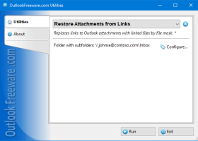 Restore Attachments from Links screenshot