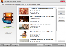 Free Video to MP3 WMA Converter screenshot