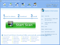 Sound Card Drivers Download Utility screenshot