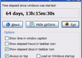 Windows Elapsed Running Time screenshot
