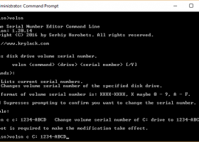 Volume Serial Number Editor Command Line - Windows 8 Downloads