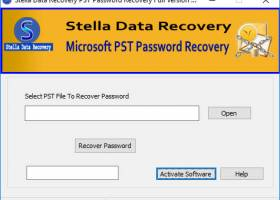 PST Password Recovery screenshot