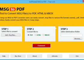 How to Save Outlook Message in PDF screenshot