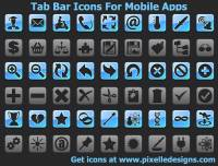 Tab Bar Icons For Mobile Apps screenshot