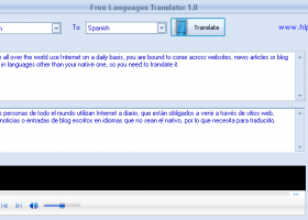 Free Languages Translator screenshot