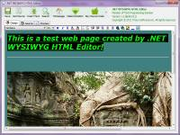 .NET WYSIWYG HTML Editor screenshot