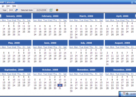 Portable AMP Calendar screenshot