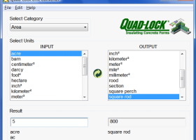 Quad-Lock Unit Converter screenshot