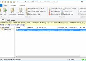 Advanced Task Scheduler Professional screenshot