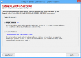 Zimbra to PST Conversion screenshot
