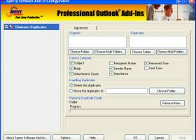 Duplicate Email Eliminator for Outlook 2000, 2002, 2003 screenshot