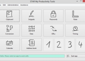 STAR My Productivity Tools for Windows screenshot