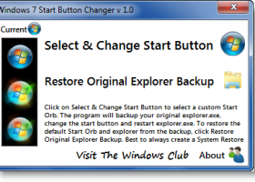 Windows 7 Start Button Changer screenshot