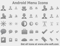 Android Menu Icons screenshot