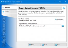 Export Outlook Items to PST File screenshot