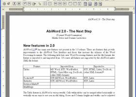 AbiWord screenshot