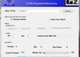 Atom TechSoft 7Z Password Recovery - Windows 8 Downloads