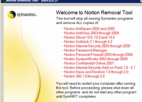 Norton Removal Tool screenshot
