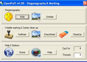 OpenPuff Steganography & Watermarking screenshot