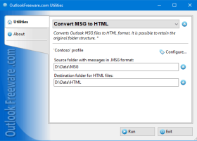 Convert MSG to HTML for Outlook screenshot