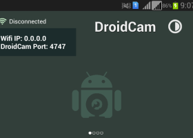 DroidCam screenshot