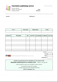 newsletter publishing invoice template - windows 8 downloads, Invoice templates