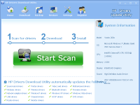 HP Drivers Download Utility screenshot