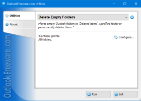Delete Empty Folders for Outlook screenshot