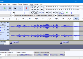 Audacity for Windows screenshot