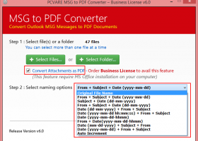 Convert Outlook Email File to PDF screenshot
