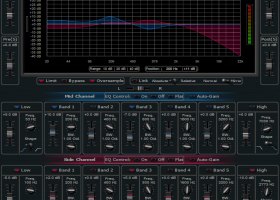 Blue Cat's Widening Parametr'EQ x64 screenshot