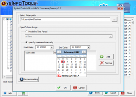 SysInfoTools NSF to MBOX Converter screenshot