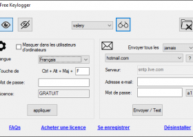 Keylogger Gratuit pour Windows screenshot